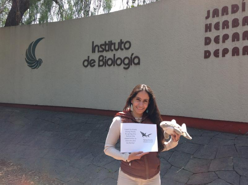 Congratulations, Cristina Guzmán, from Universidad Nacional Autónoma de México, who asked if we could cover her 125 euros registration for the Iberian Congress of Ichthyology, where she will present her work on conservation genetics of sharks. We simply couldn't say no to that, could we?