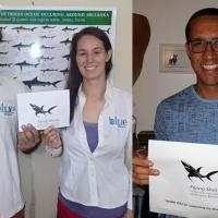 Research Fund - 18/07 Blue Resources Trust is a marine research and conservation organisation based in Sri Lanka, and they have a project dedicated to shark and ray data collection and conservation. When they asked for our help to cover registration for Akshay Tanna (left), Rosalind Bown (center) and Daniel Fernando (right), to attend the International Marine Conservation Congress in Borneo, we simply couldn't say no, so we wired them 1.000 USD.