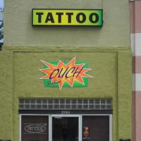 June 2010 June 2010 - The name of this tattoo parlor caught our attention. The fact that it was closed in the middle of the day should tip off the owners that maybe their name wasn't their brightest marketing decision ever...