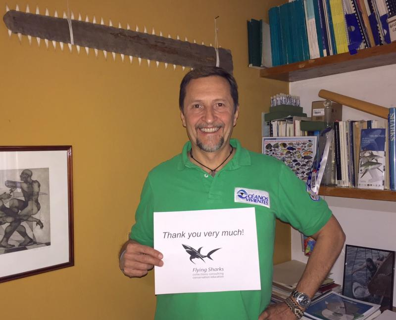 Congratulations, Rámon Bonfil, a world renowned shark expert and member of the IUCN Shark Specialist Group, who just received 1256 USD to support his trip to the Sharks International Meeting in João Pessoa, Brazil. At the meeting, Rámon will present his amazing conservation research on sawfishes and mobulid rays in Mexico. Go, Rámon!