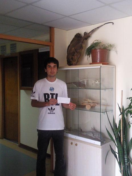 Congratulations to Ismet Saygu, a young marine biologist from Turkey doing his M.Sc. on elasmobranch local commercial fisheries. We wish Ismet the best of luck with his work towards which we were more than happy to contribute with 1.000 euros.