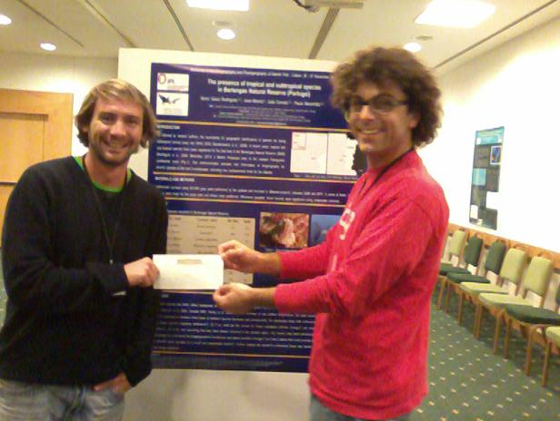 Congratulations to Nuno Rodrigues and João Franco, who attended a Workshop on Biogeography and Phylogeography of Atlantic fish, with all the big wigs in the sector (!), and presented a very cool poster on shifts in biodiversity in Portuguese waters. Flying Sharks was glad to pay for their <u>100 euros</u> registration fees.
