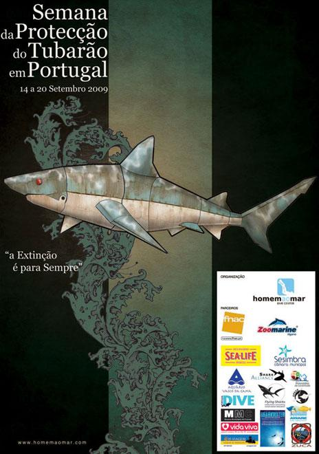 September 2009 - Flying Sharks proudly supported the first Portuguese Week of Shark Protection, donating over 900 euros to miscellaneous travel expenses, meals, etc.