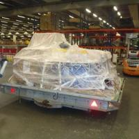 April 2011 This time the air-cargo boys at Cologne airport decided to wrap our tanks in plastic, just in case there were any leaks. Had they flown with us before they would have known our gear is 100% leak proof! Anyway, it was fun watching our tanks being wrapped like candy.