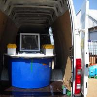 July 2011 When the folks from CCMar asked us to pick up 500 juvenile <em>Sparus auratus</em> from Maresa, an Aquaculture in Ayamonte / Spain, we naturally went all crazy and prepared a van with three of our 800 liters tanks