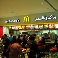 """September 2012 As we all know """"The Crisis"""" has steered all our lives away from needless luxury. In true """"crisis"""" spirit, Flying Sharks enjoyed lunch at mcDonald's at Dubai International Airport. Judging by the huge lines, everybody seems to be adopting the same philosophy. :-)"""