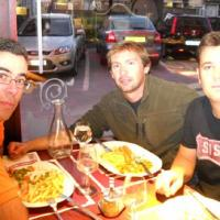 August 2011 As usual, the operation ended with a scrumptuous meal in Boulogne, where João (left), Nuno (center) and Ruben (right) got a chance to grab some tasty local food and, of course, a gin-tonic or two. Maybe three.